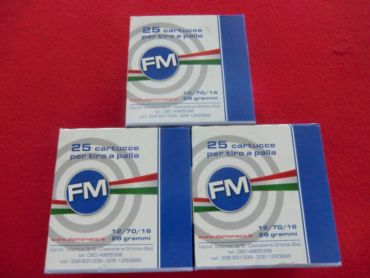 cartuccia FM calibro 12 TIRO A PALLA