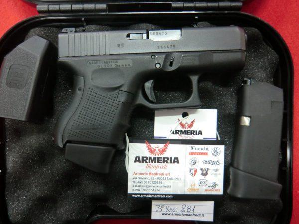 Pistola Glock Modello 26 Generazione 4 Calibro 9x21 Armeria Manfredi