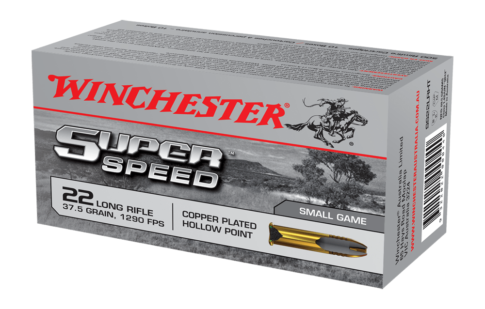 cartucce winchester super speed calibro 22 lr 40 grain