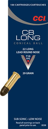 cartucce cci calibro 22 long 29 grain