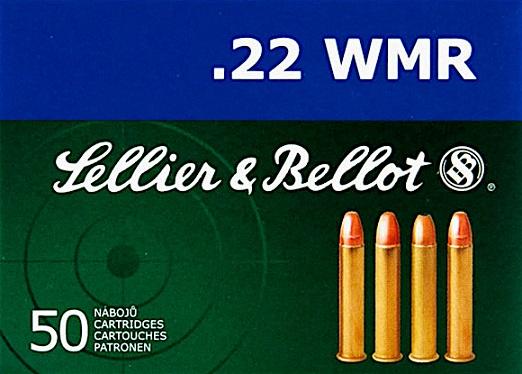 cartucce sellier & bellot calibro 22 winchester magnum sb 45 grain