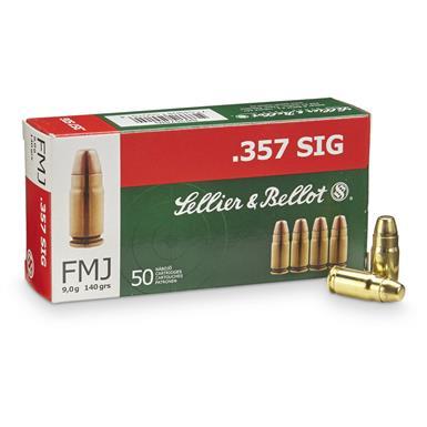 cartucce sellier & bellot calibro 357 sig FMJ 140 grain .