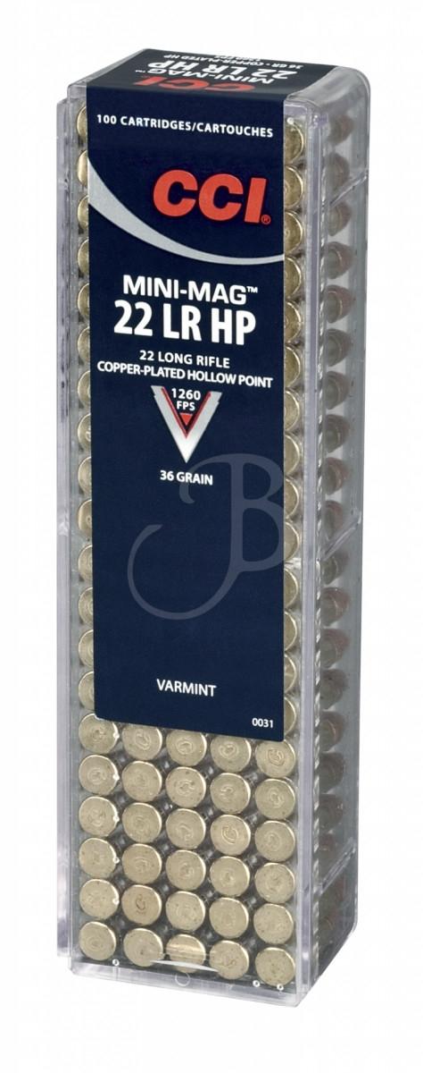 cartucce cci calibro 22 lr mini magnum palla ramata 36 grain