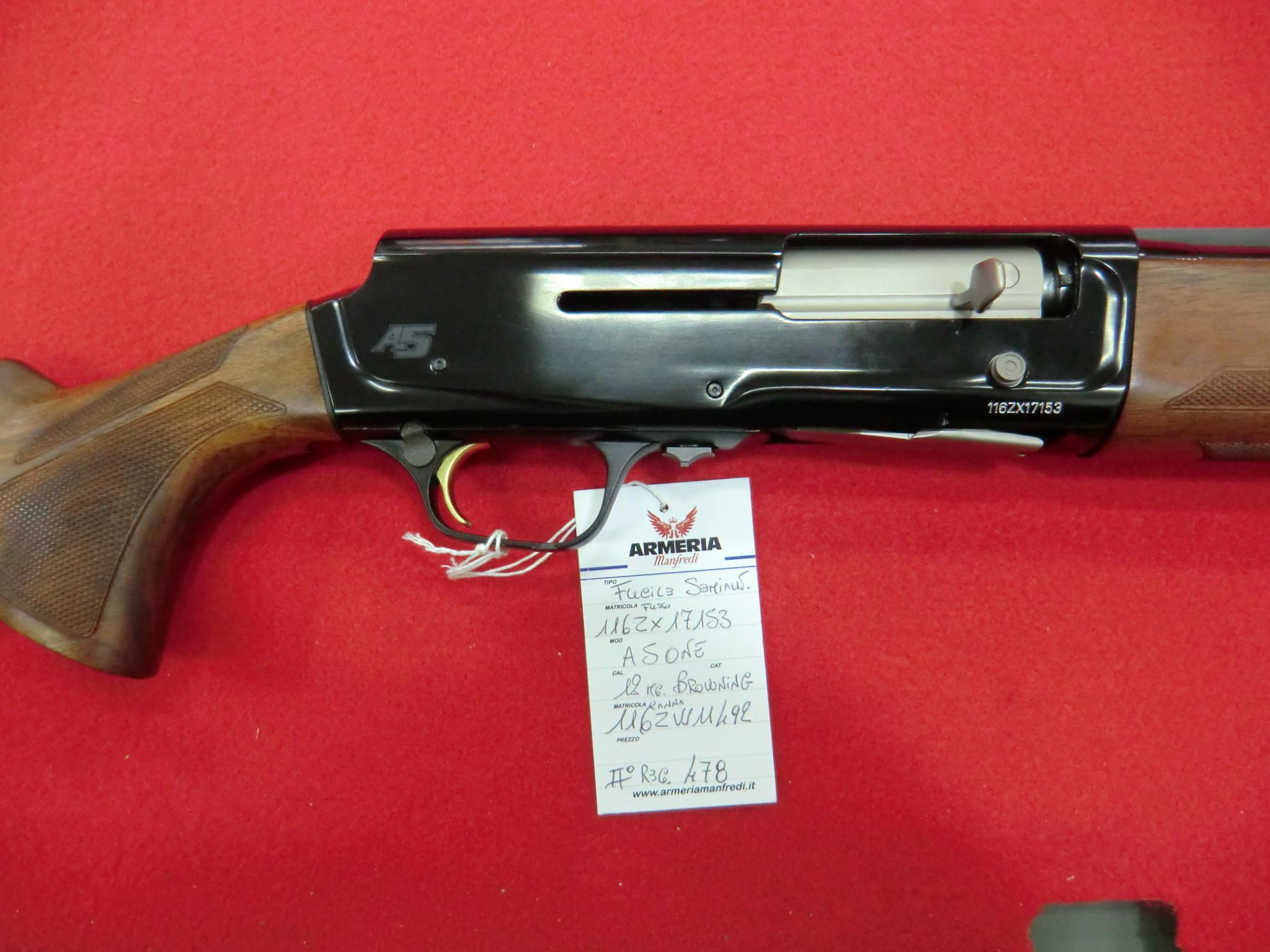 Browning A5 ONE calibro 12 canna 71 cm con strozzatori