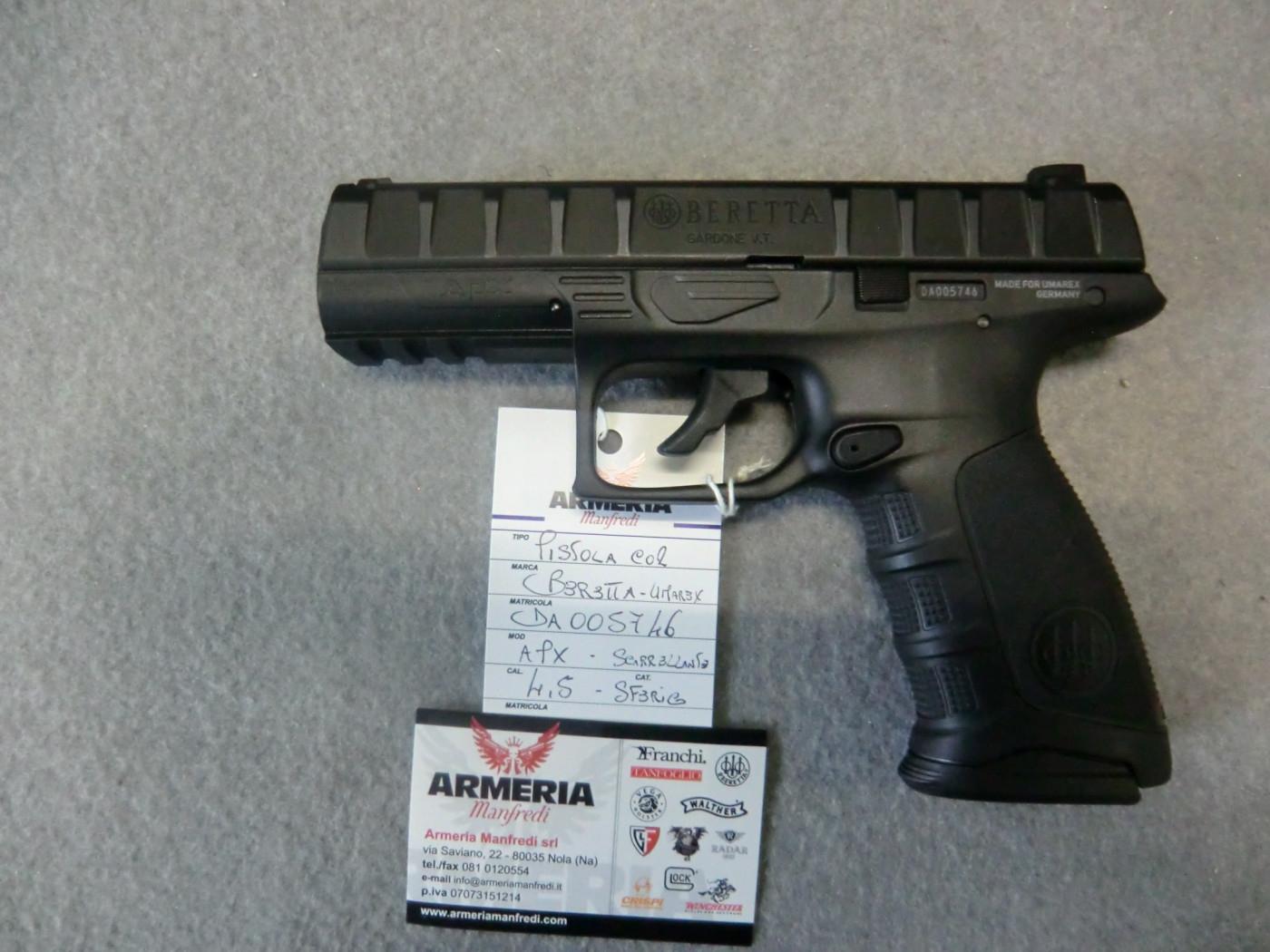 Beretta-umarex modello Apx calibro 4.5 scarrellante