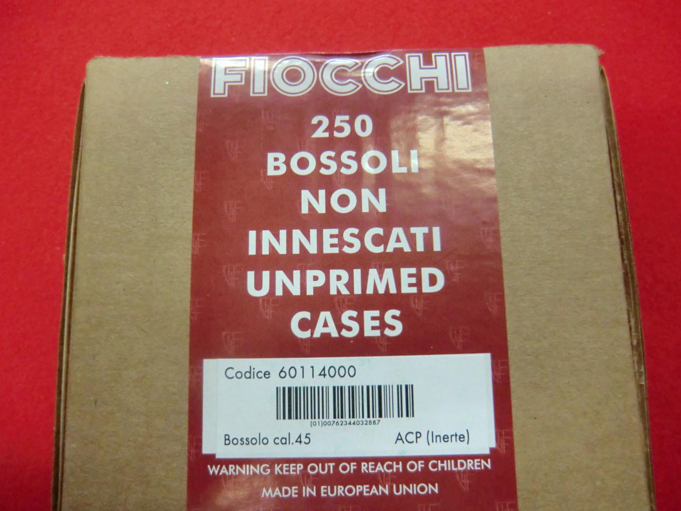 Bossoli Fiocchi calibro 45 ACP