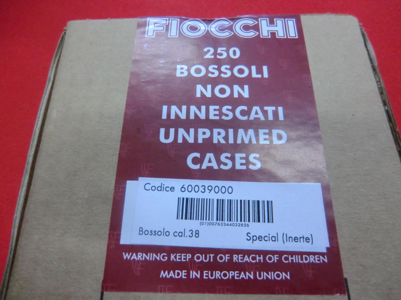 Bossoli Fiocchi calibro 38 Special