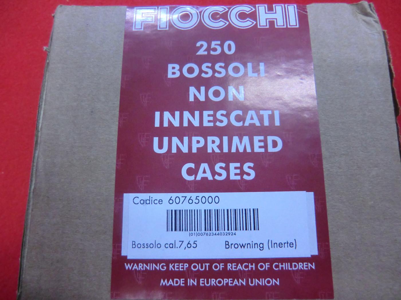 Bossoli Fiocchi calibro 7.65 Browning