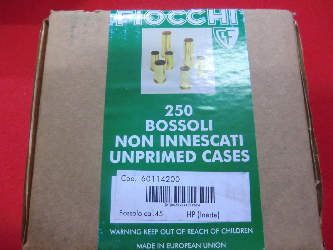 Bossoli Fiocchi calibro 45 HP