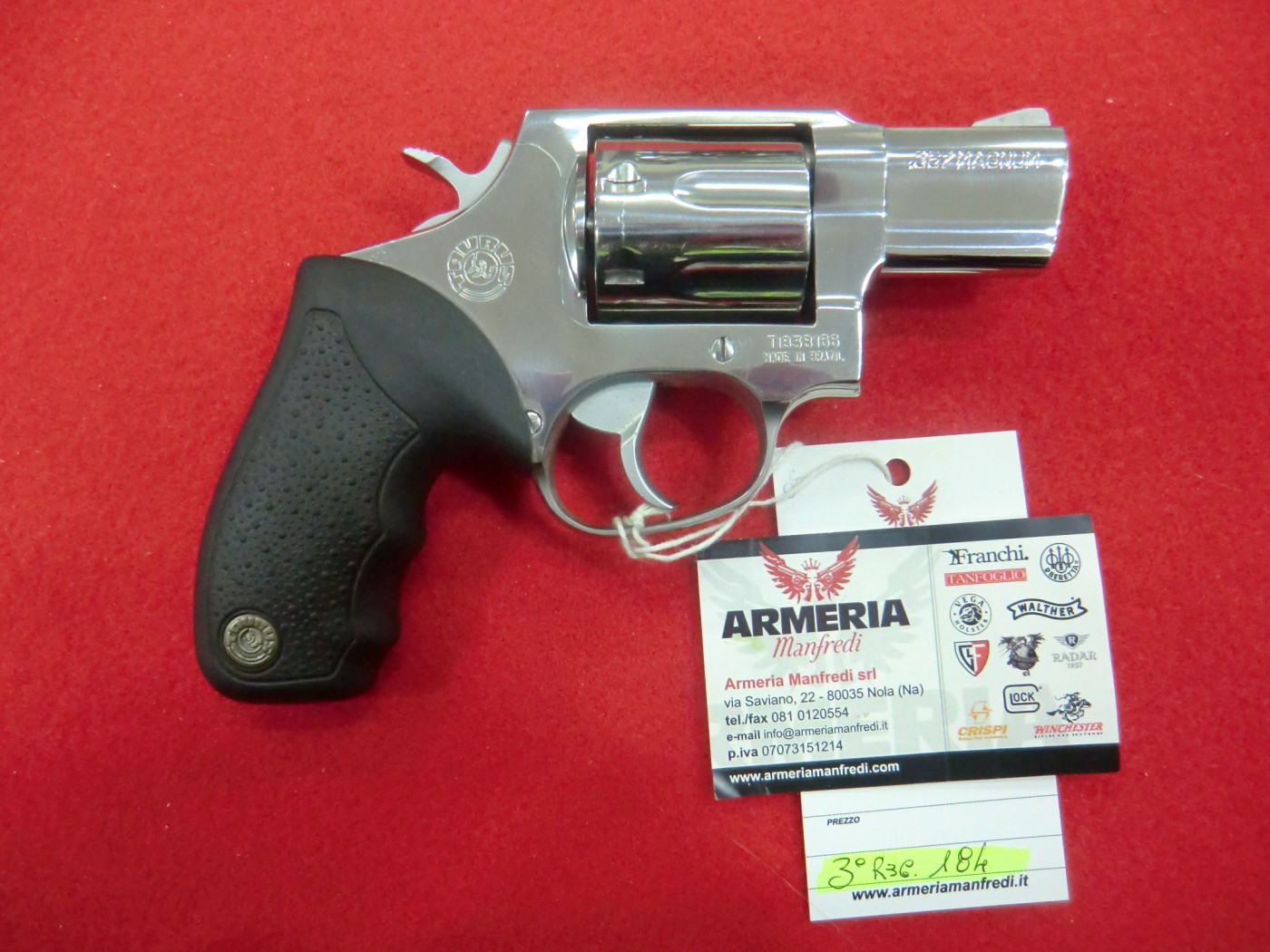 Taurus REVOLVER calibro 357 magnum modello Inox 7 colpi