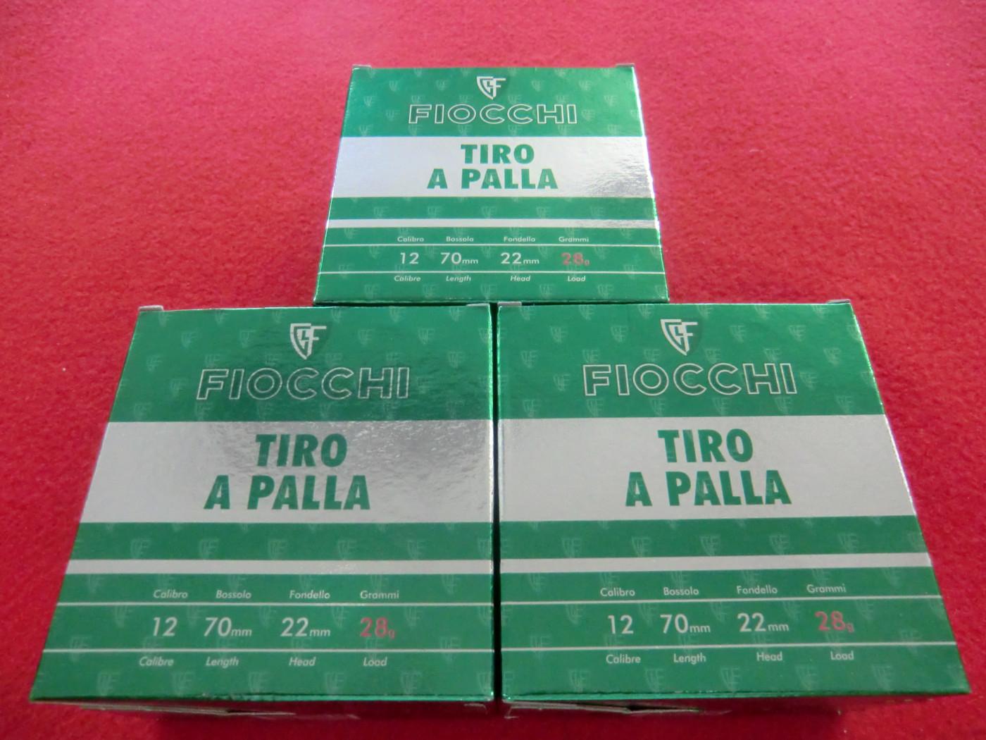 CARTUCCE FIOCCHI CALIBRO 12 per TIRO A PALLA