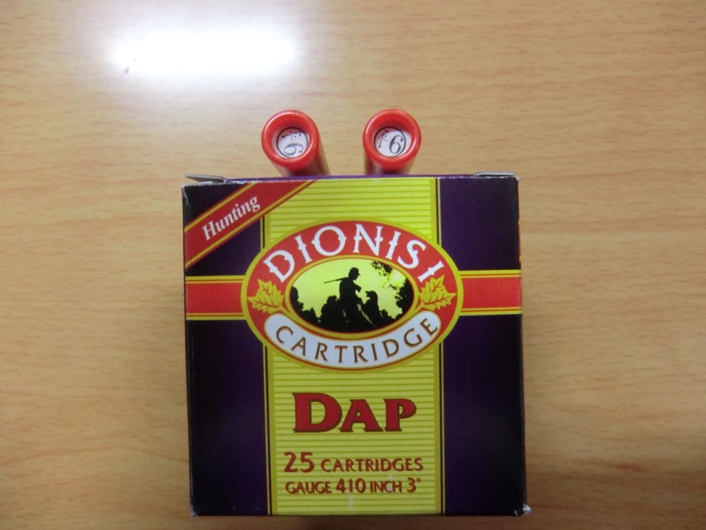 cartucce calibro 410 silenziate dionisi pb. 9 gr. 22