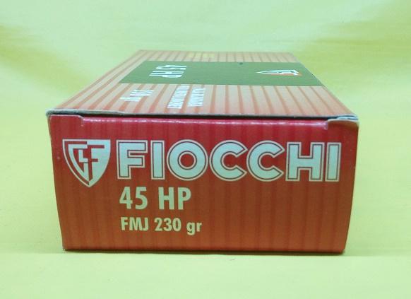 Cartucce Fiocchi calibro 45 HP FMJ 230 Grain