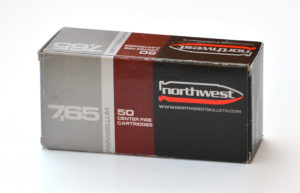 cartucce north west calibro 7,65 parabellum 93 grain