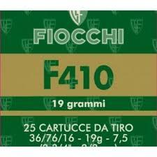 fiocchi calibro 410 F410 grammi 19 piombo 7 1/2