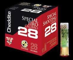 cheddite calibro 28 speciale tiro grammi 24 piombo 7 1/2