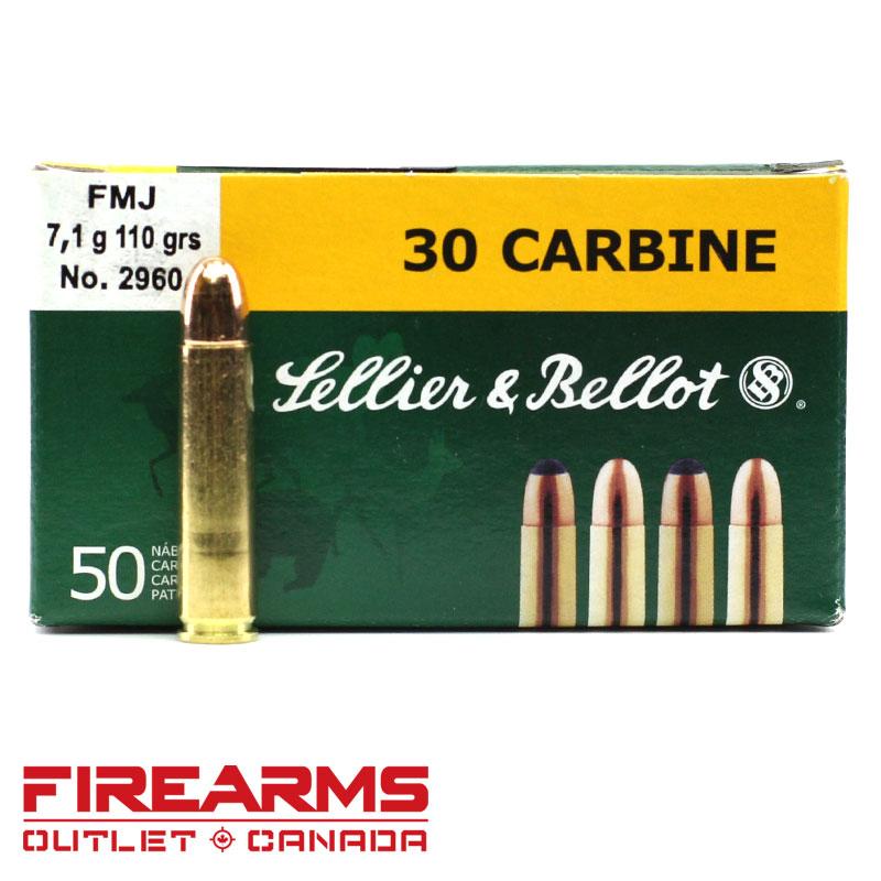 cartucce sellier & bellot calibro 30 carbine fmj 110 grain