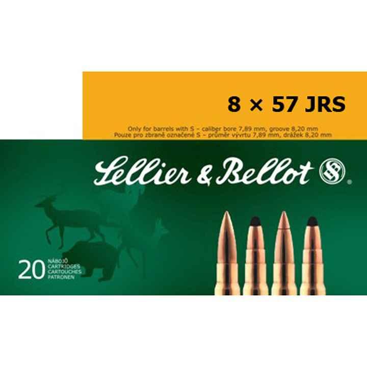 CARTUCCE SELLIER & BELLOT CALIBRO 8X57 JRS 196 Grain