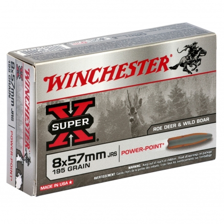 CARTUCCE WINCHESTER CALIBRO 8X57 MM JRS 195 GRAIN